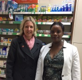 Jayne talks about the impacts with the Pharmacist in Stafford Road